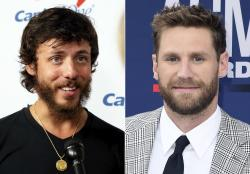 Chris Janson, left, and Chase Rice, right.