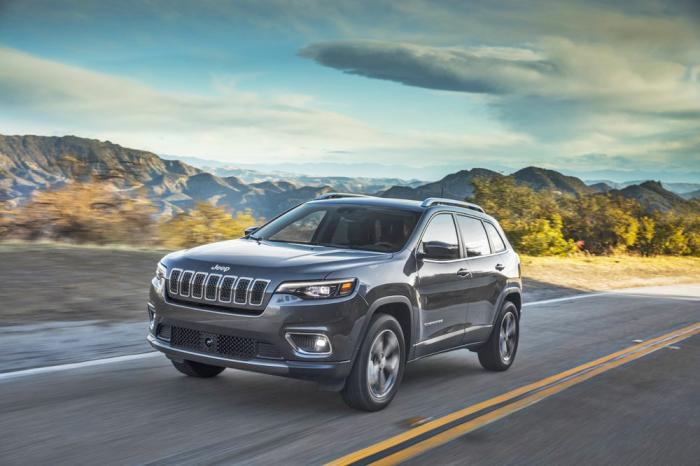 This photo provided by FCA US shows the 2020 Jeep Cherokee, a compact crossover with an adventurous spirit. The Trailhawk trim is especially adept off-road. Shoppers should be able to find considerable discounts on the Cherokee this Fourth of July