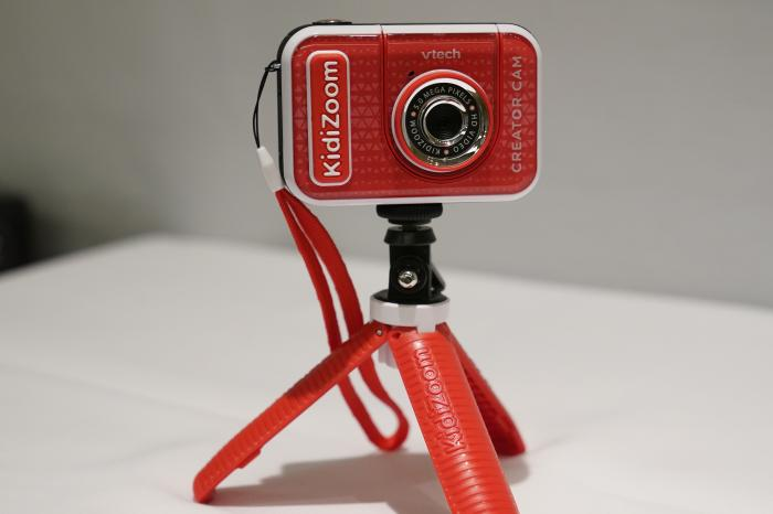 A KidiZoom Creator Cam by VTech is displayed at the Toy Fair, Thursday, Sept. 17, 2020, in New York