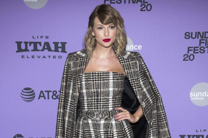 """Taylor Swift at the premiere of """"Taylor Swift: Miss Americana"""" in Park City, Utah."""
