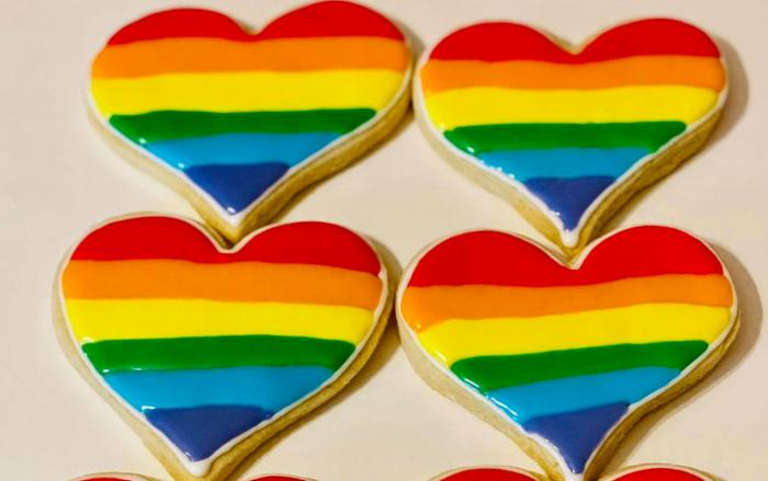 Pride cookies from Confections