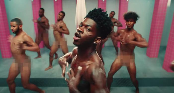 Lil Nas X in his music video for 'Industry Baby.'
