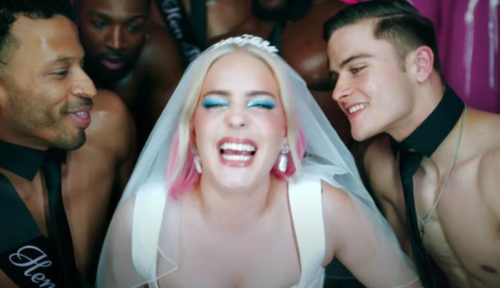Singer Anne-Marie in her music video for 'Kiss My (Uh-Oh).'