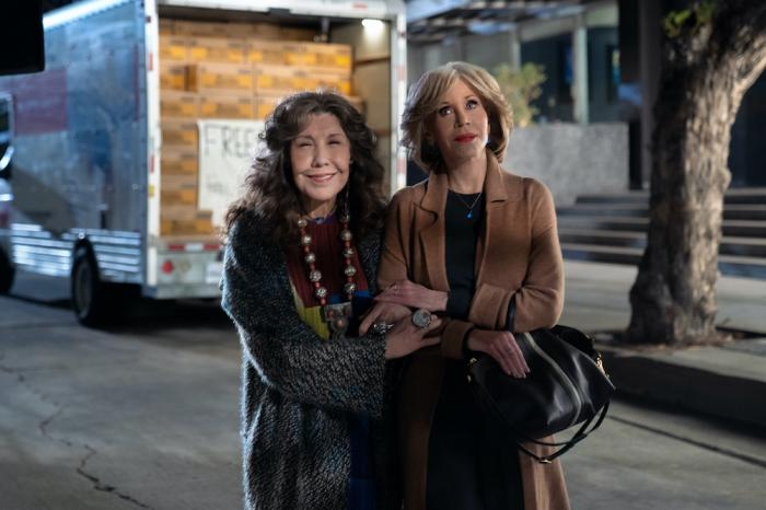 """Lily Tomlin, left, and Jane Fonda, right in the """"Grace and Frankie."""""""